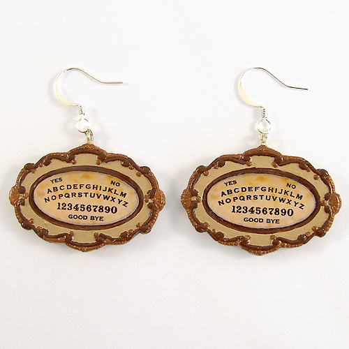 Polymer Clay Ouija Board Earrings