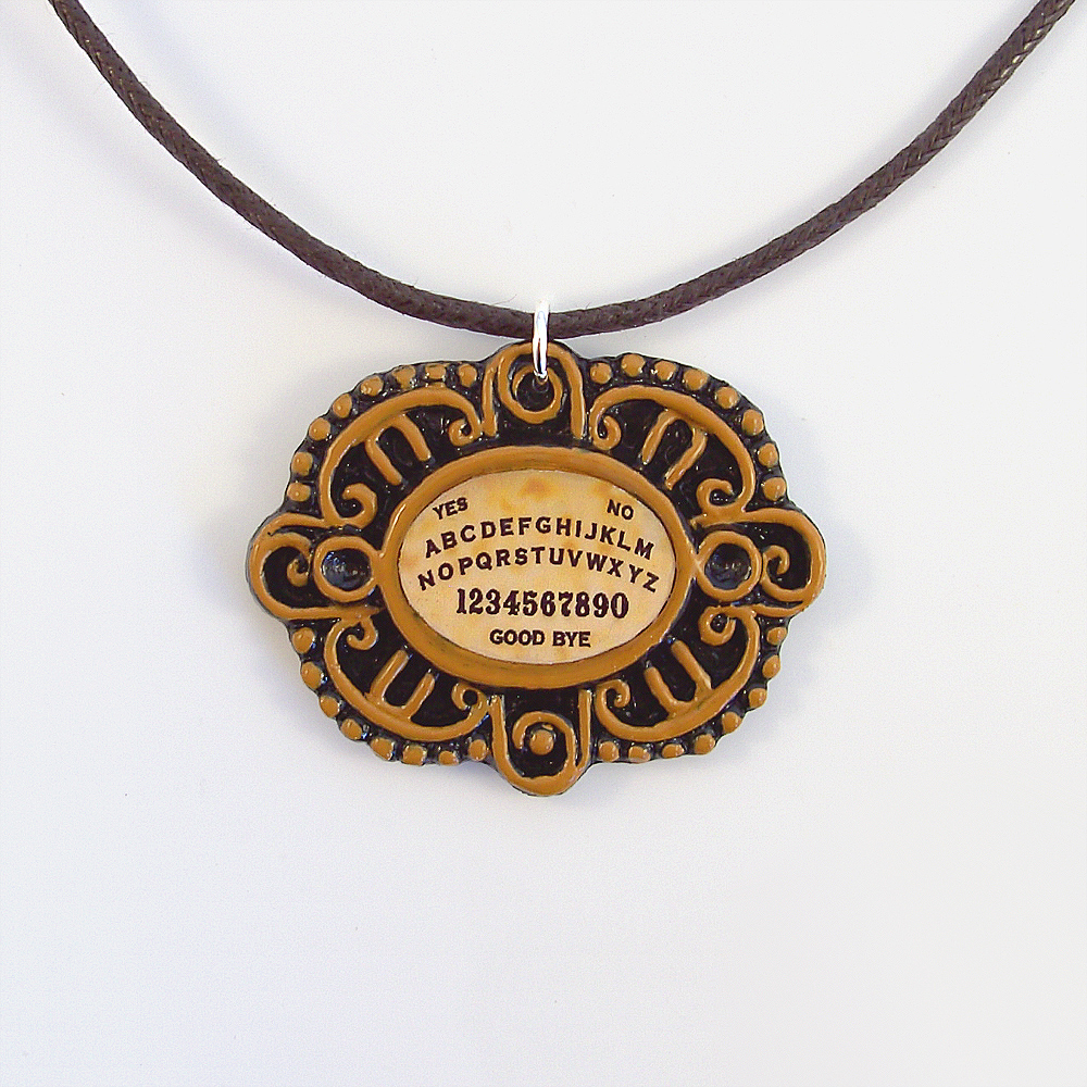 Victorian Ouija Board Cameo and Cord Necklace