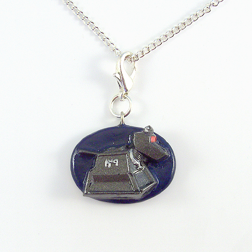 K-9 Charm with Silver Chain Necklace