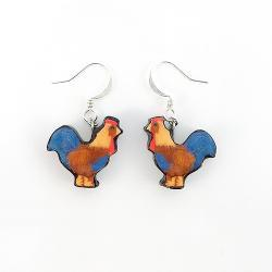 Polymer Clay Rooster Earrings