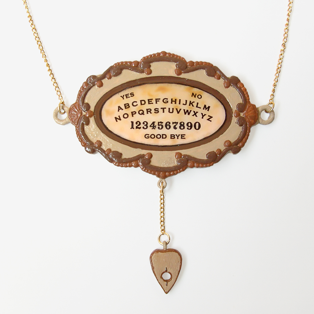 large ouija board pendant and gold chain necklace on luulla